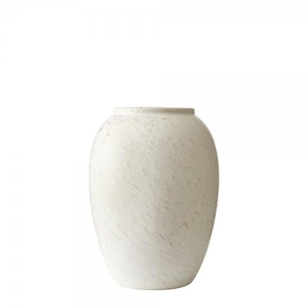 Vase x 20 cm Steingut Matt cremeweiß