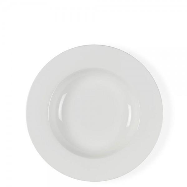 Tiefer Teller 23 cm Bone Porzellan Weiẞ