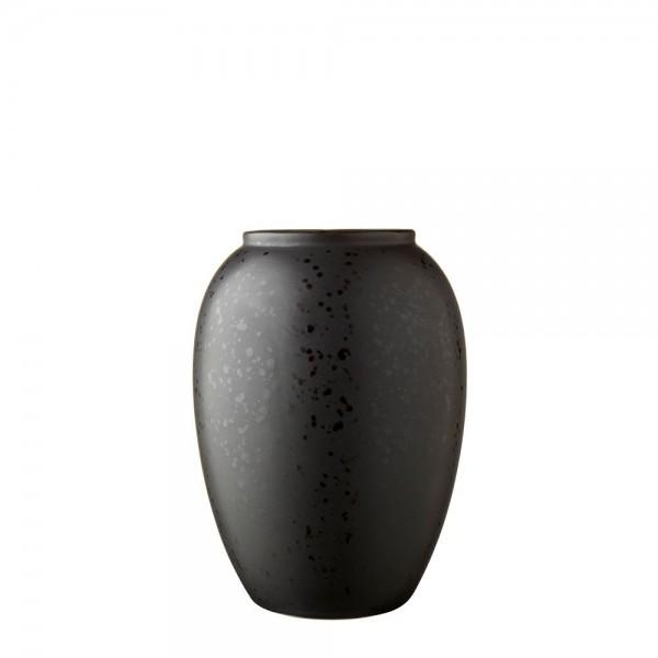 Vase x 20 cm Steingut Schwarz