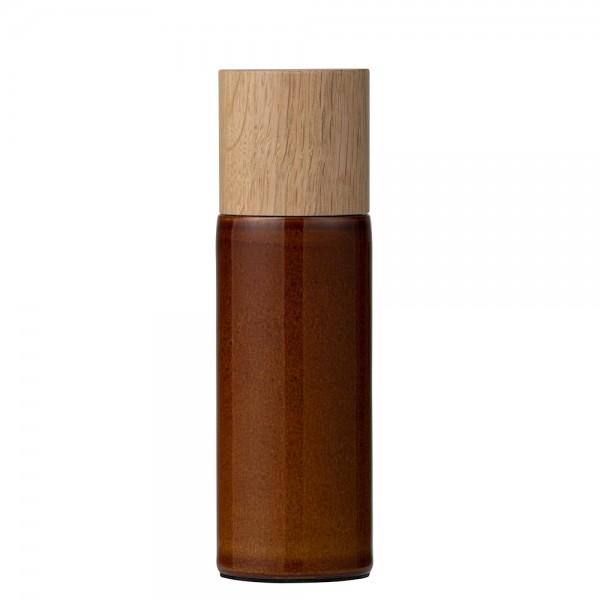 Salzmühle 17 cm Steingut Amber