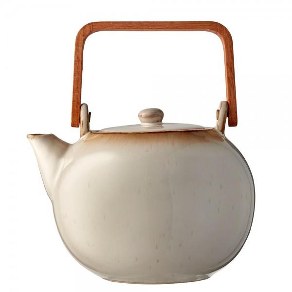 Teekanne 1,2 Steingut Creme