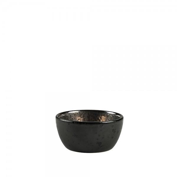 Schale 10 x 5 cm Schwarz/Bronze Steingut