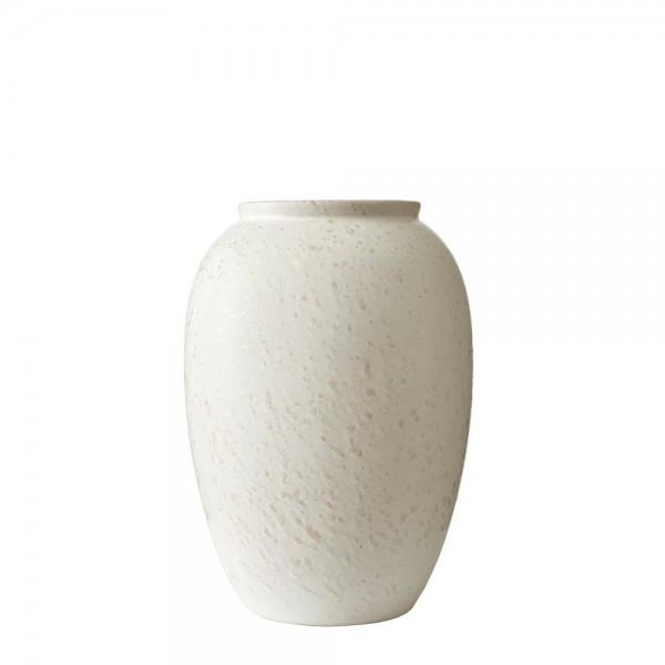 Vase x 25 cm Steingut Matt cremeweiß