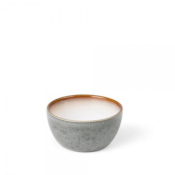 Schale 10 cm Steingut Grau-creme