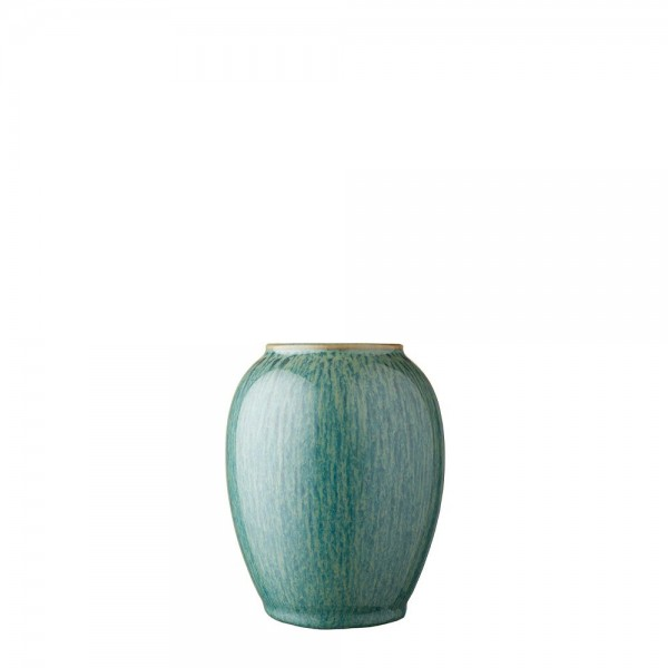 Vase x 12,5 cm Steingut Grün