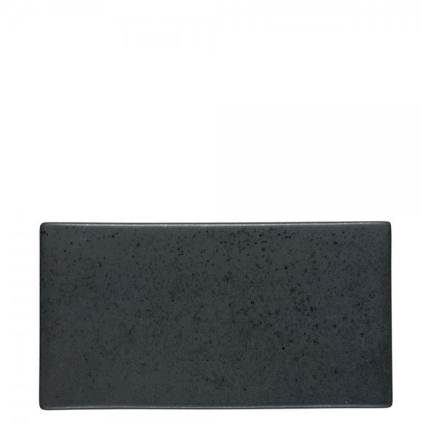 Tapasplatte 30 x 16 cm Schwarz
