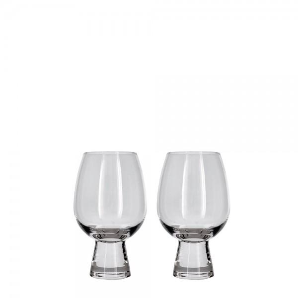 Rotweinglas-Set 2 Stück 45 cl kristallklar
