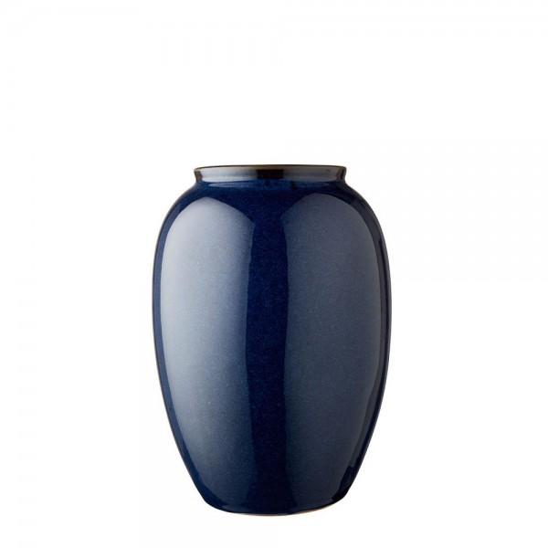 Vase x 25 cm Steingut Blau