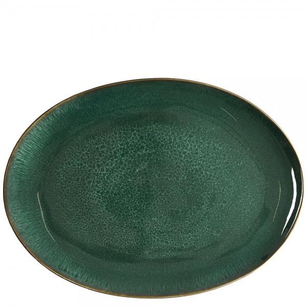 Fad oval 45x34cm so/grøn Bitz