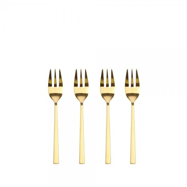 Kuchengabel 14,4 cm 4 Stück Brass