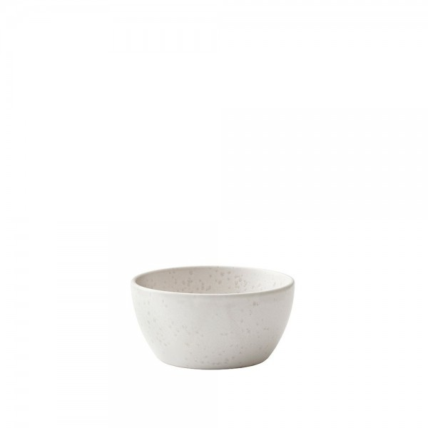 Schale 10 cm Steingut Matt Creme