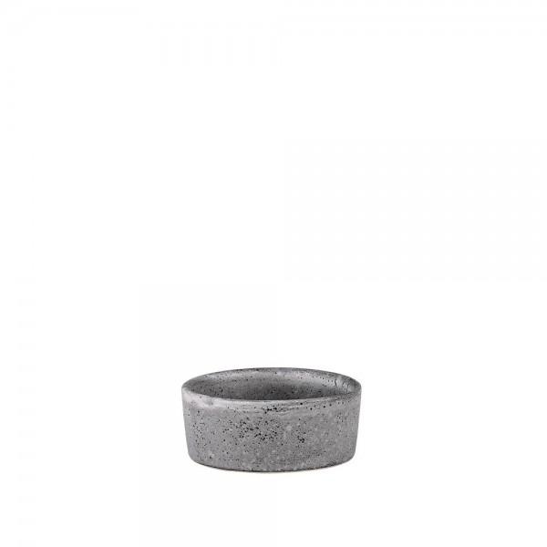 Minischale 7,5 cm Steingut Grau