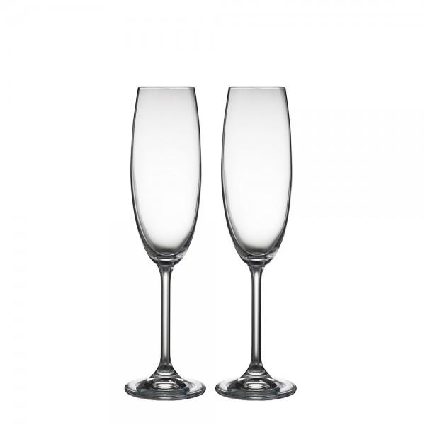 Champagner Gläser-Set 2 Stück 22 cl kristallklar