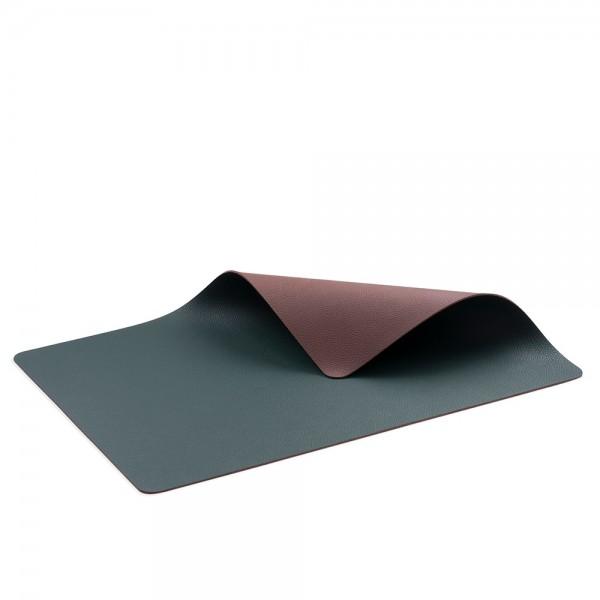 Tischset 46x33 4 Stck. Pinegrün/dunkelbraun