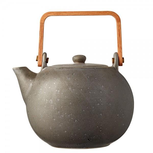 Teekanne 1,2 Steingut Grau