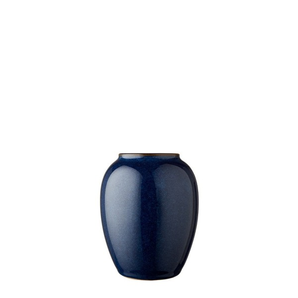 Vase x 12,5 cm Steingut Blau