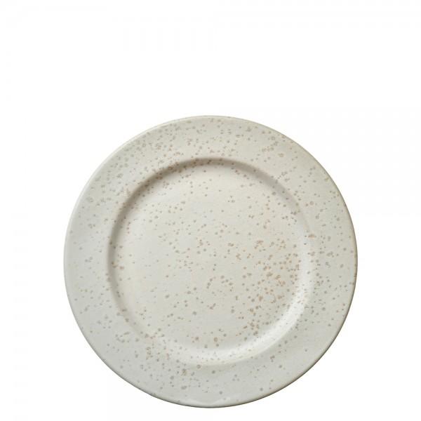 Dessertteller 22 cm Steingut Matt cremeweiß