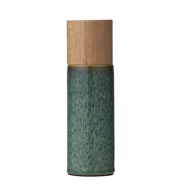Salzmühle 5 x 16,7 cm Steingut Grün