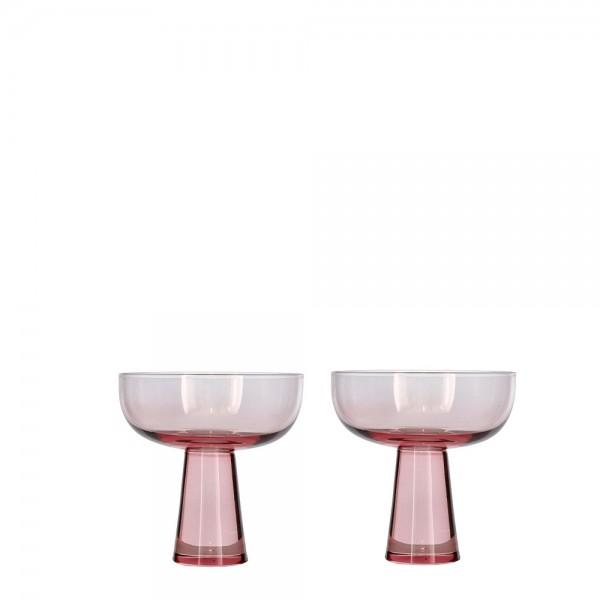 Champagne-Set 2 Stück 27,5 cl Hellpink