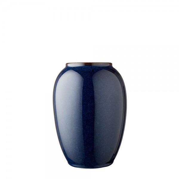 Vase x 20 cm Steingut Blau