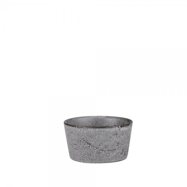 Ramequin-Form 11 cm Steingut Grau