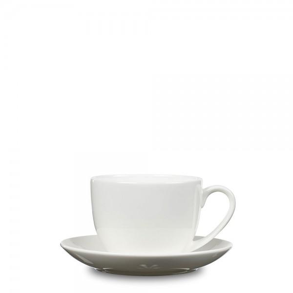 Tasse mit Untersetzer Bone Weiß