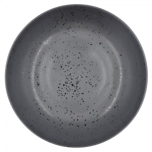 Platte 40 cm Steingut Schwarz