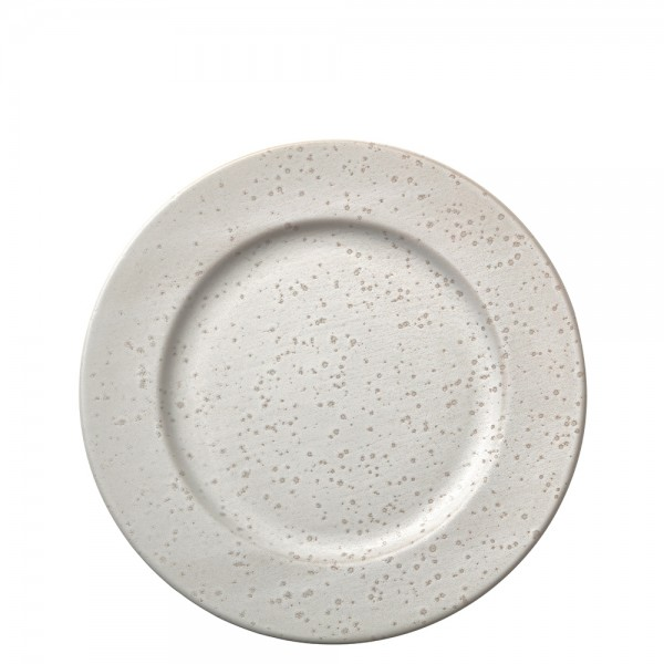 Mittagsteller 27 x 2,5 cm Steingut Matt cremeweiß
