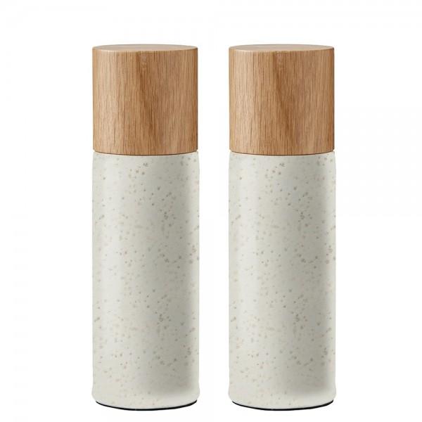Salz- und Pfeffermühle Steingut Matt creme