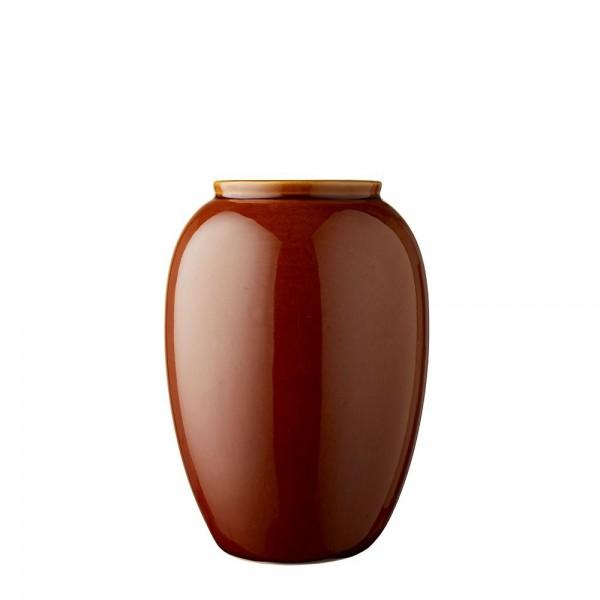 Vase x 25 cm Steingut Amber