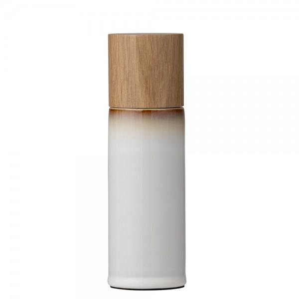Salzmühle 17 cm Steingut Creme