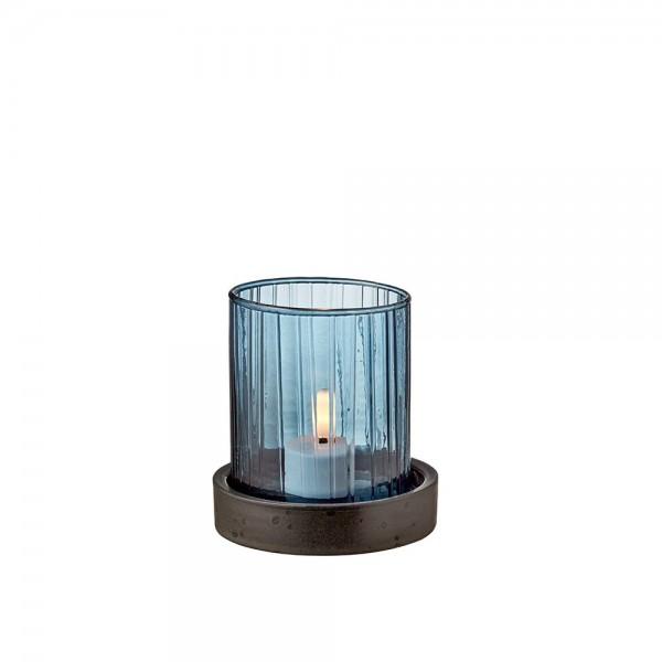 Hurricane m. LED Kerze 11 cm Blau