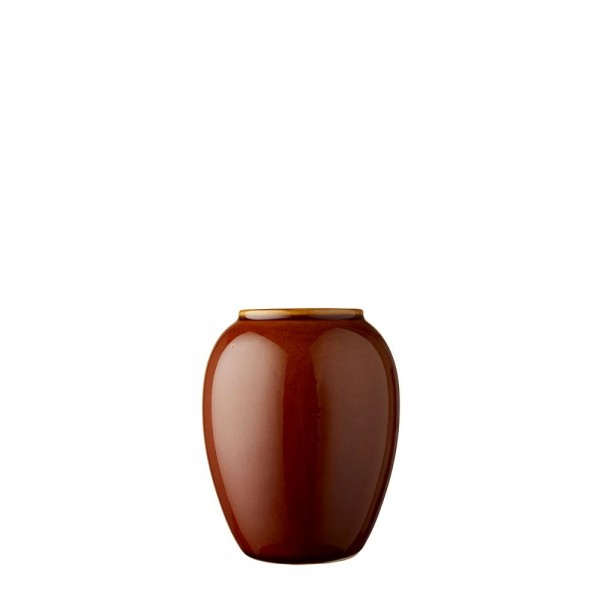 Vase x 12,5 cm Steingut Amber