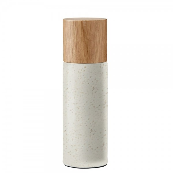 Salzmühle 5 x 16,7 cm Steingut Mat creme