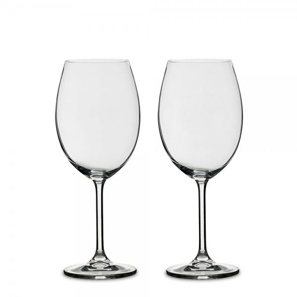 Rotweinglas-Set 2 Stück 58 cl kristallklar